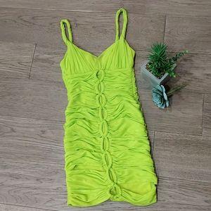 Bebe Green Mini Bodycon Dress size XXS